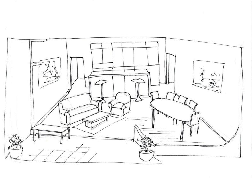 Pip Leckenby's first set drawing