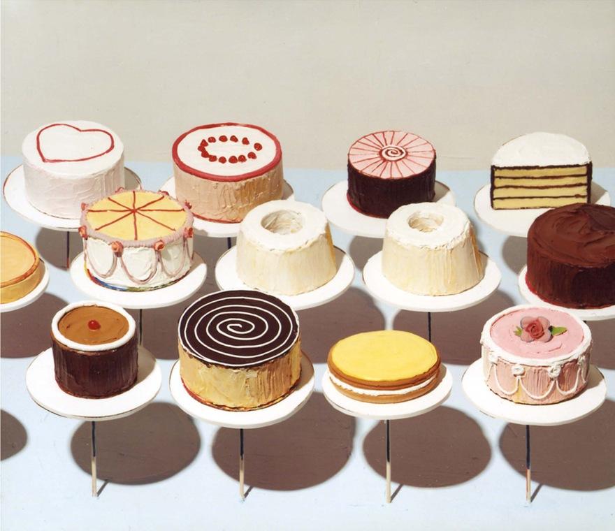 Wayne-Thiebaud-Cakes-1963-oil-on-canvas