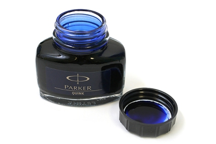 Blue black ink